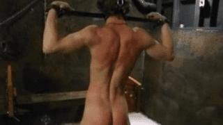 Teen boy enjoys BDSM whip orgy