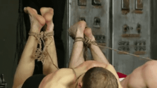 Tied and bound BDSM gay fun