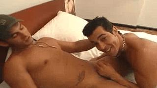 Hunky guys gay oral sex