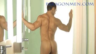Sexy gay model masturbates