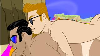 Gay Cartoon – The Nude Beach.
