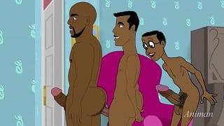 Gay big black cock cartoon