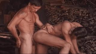 Gay porn stars bareback anal sex video