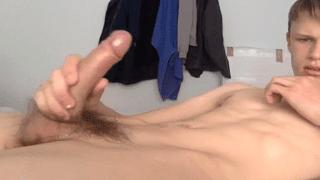 Large penis masturbation gay porn videos