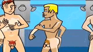 Gay Cartoon – Hot College Boys In The Shower